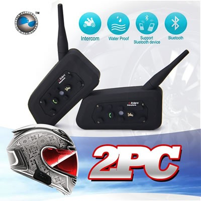 Intercomunicador Bluetooth Para Casco Motocicleta 1000m Gps Dual Pack