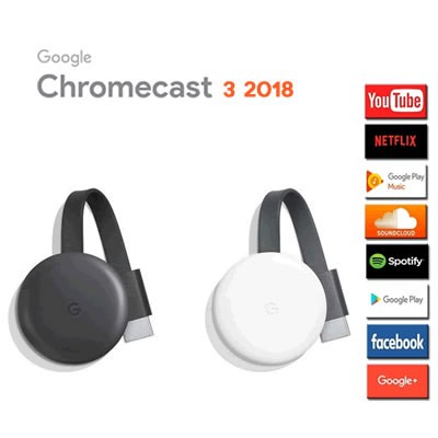 Google Chromecast 3 Convierte Tu Tv En Smart Tv Full Hd Hdmi