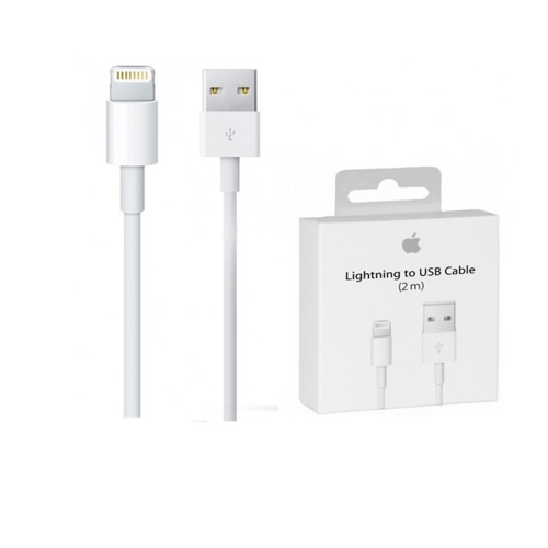 Cable de datos Apple lightning a USB 2 Metros